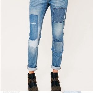 Free People | Patchwork Jeans